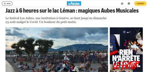 Jazz à 6 heures sur le lac Léman - magiques Aubes Musicales